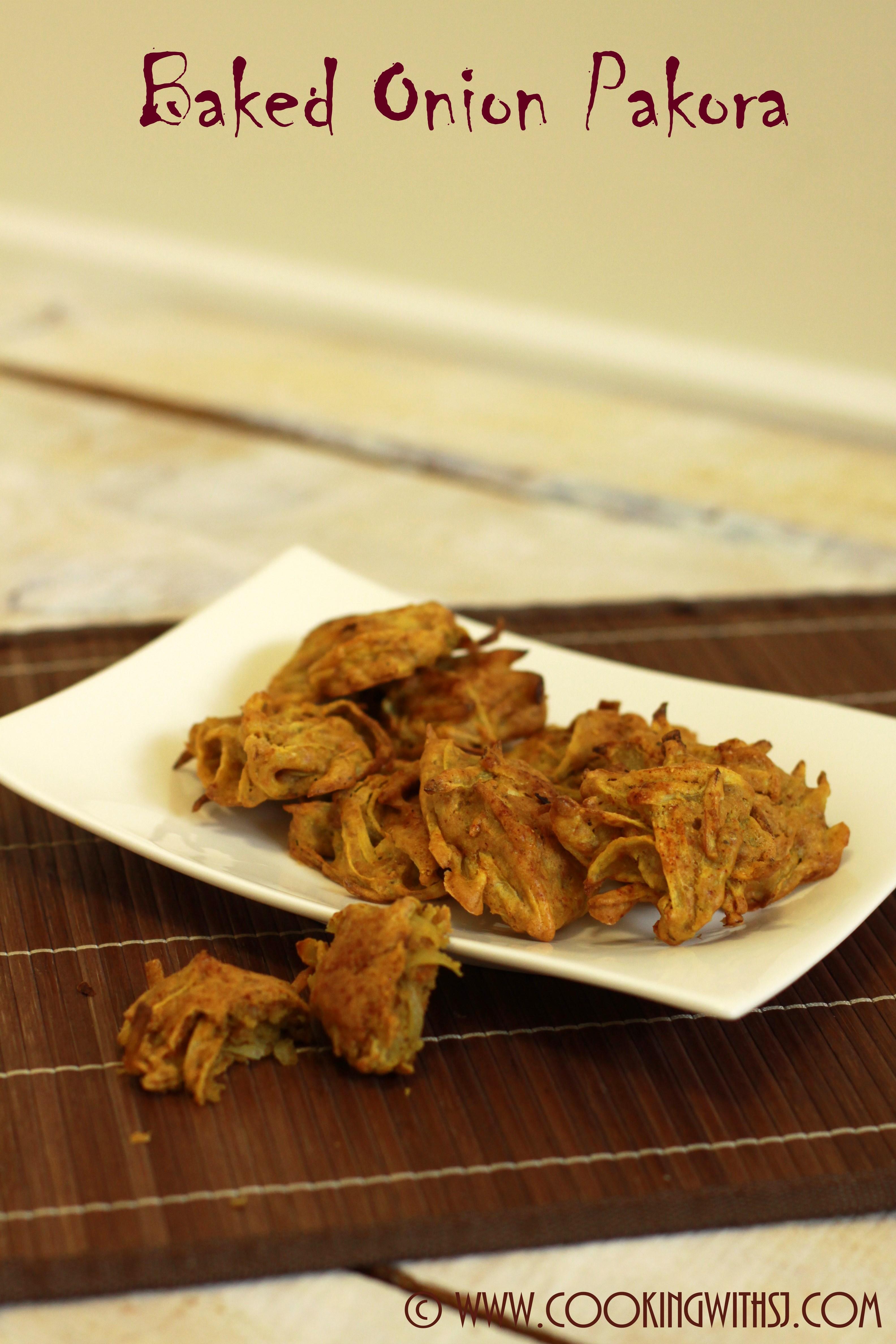 Baked onion pakora cooking with sj baked kanda pakora forumfinder Images
