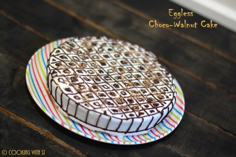 choco-walnuts cake