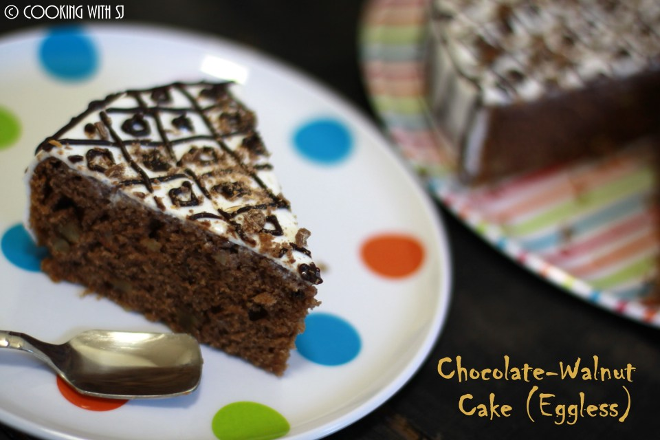 chocolate-walnuts cake
