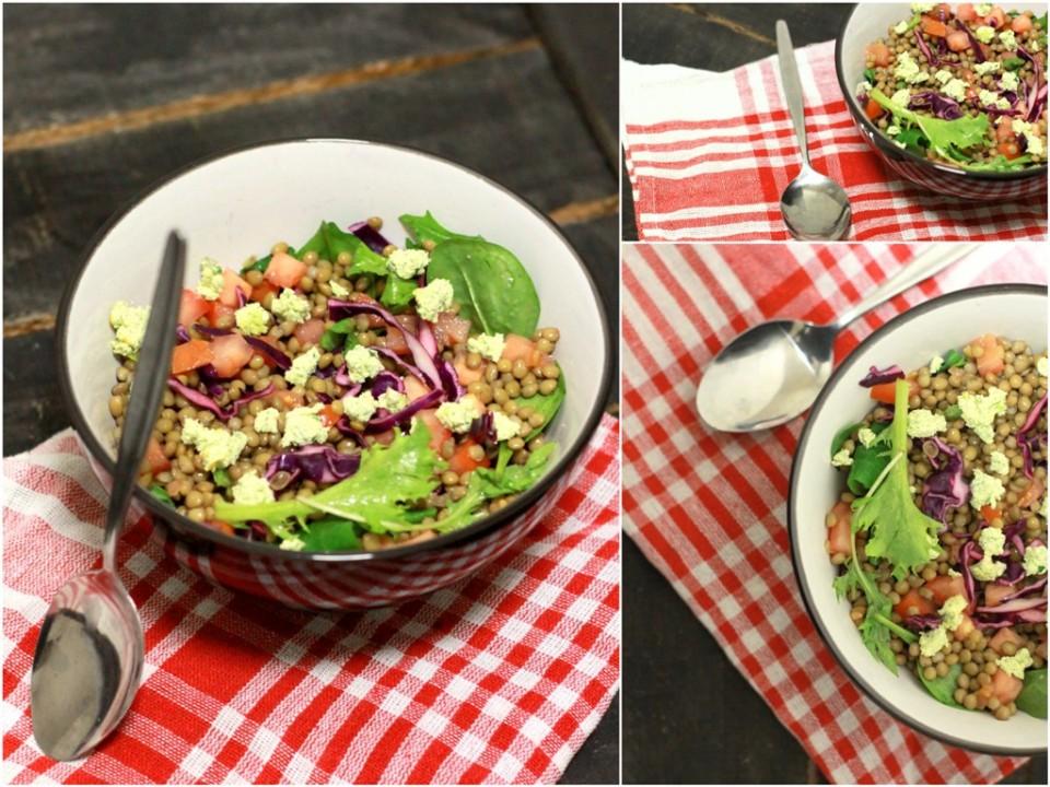 greek lentils salad